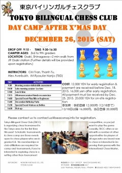 Day Camp after X'mas Day!